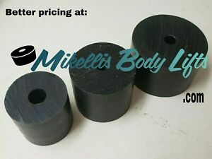 "Body Lift Blocks, Pucks 2""-3"" diameter with variety of lengths (PACK OF 4)"