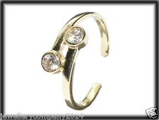 9ct Gold Toe ring adjustable Cz toe ring on twist Jtr08 jewellery company