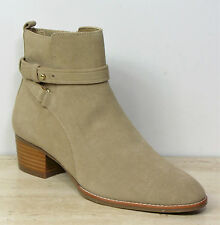 New M&S AUTOGRAPH Real SUEDE Mid Heel ANKLE BOOTS ~ Size 3 ~ CAMEL (rrp £65)