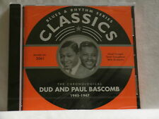 DUD & PAUL BASCOMB 1945-1947 Avery Parrish Tiny Grimes Sid Catlett SEALED CD