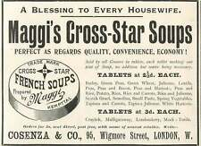 1905 Maggi's Cross Star Soup Perfect Quality Cosenza And Co