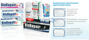 Biorepair® the toothpaste mineralize repairs tooth enamel cracks Fluoride Free