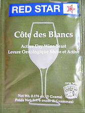 2 packs RED STAR Cotes Cote de Blanc des Blancs Wine Yeast Dry Yeast Home Wine