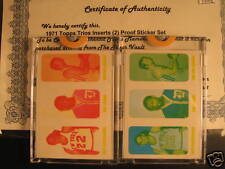 1971 Topps Basketball Proof Sticker Set Debusschere