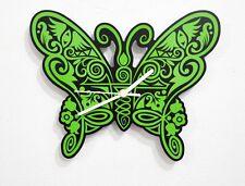 Green Butterfly - Wall Clock
