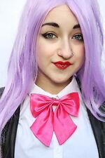 PINK SATIN KITTY BOW GEEK KAWAII JAPAN SCHOOL GIRL COSPLAY ALT PRE TIED BOW TIE