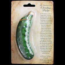Retro German Holiday Tree-CHRISTMAS PICKLE ORNAMENT-Game Tradition w-Legend Gift