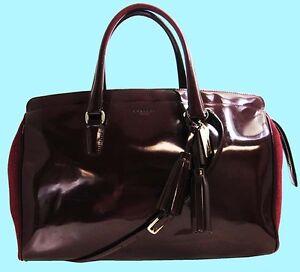 COACH 26369 LEGACY PINNACLE Lowell Leather LG Satchel Shoulder Bag Msrp $898.00