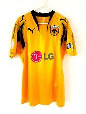 More details for aek athens home shirt 2007. medium. original puma. yellow adults football top.