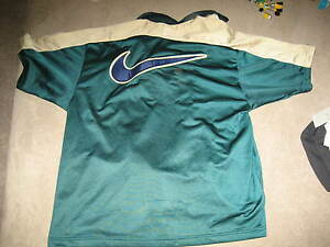 NIKE Old School Basketball Shooter Shirt Green/Gold/Blue Size: Large