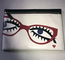 Lulu Guinness Archive Eyes Naomi Soft Optical Leather Clutch Handbag UNUSED