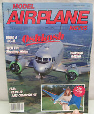Model Airplane News Magazine February 1989 Oshkosh Warbird Racing Build a DC-3