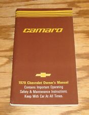 1979 Chevrolet Camaro Owners Operators Manual 79 Chevy