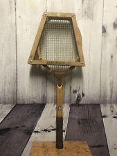 Tad Davis Imperial Deluxe Wooden Tennis Racket 3L Custom Made W/ Brace Cover Vtg