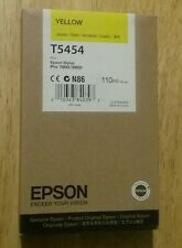 03-2018 New Genuine Epson T5454 110ml Yellow Ink for Stylus Pro 7600, 9600