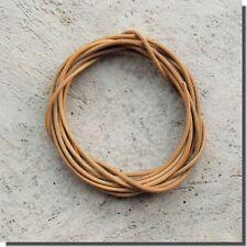 1 cordon cuir longueur 2 Métres  diamétre 2 mm