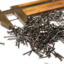 "3/8"" 10mm 300pcs Brass Vintage Patina Escutcheon pins Nails Brads 18G-1mm shank"