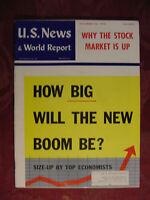U S NEWS WORLD REPORT Magazine September 26 1958 Economic Boom Stock Market Up