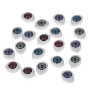 20Pc Plastic Fake Eyes Oval Eyeballs for Mask Dolls Bear Baby Toy TuBAUSB VC