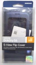 Samsung - S-View Flip Cover for Samsung Galaxy S6 Cell Phones - Black #111