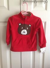 Boys Bear Zippered Red Jacket Size 18 Months