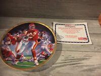 1991 Sports Impressions Joe Montana Limited Edition Plate.  7500 Made World Wide