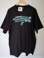 New Florida Marlins 2003 World Series Champions Genuine MLB Black T-Shirt Sz XL