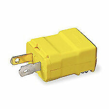 Hubbell HBL5866VY Valise Plug 15 Amp 125v 1-15p Yellow