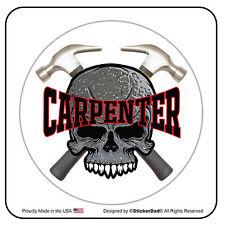 "CARPENTER (SCH) Circle (2 Pack) Hard Hat Printed Sticker (size: 2"" color:FULL)"