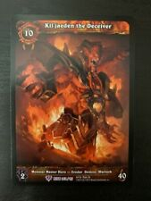 World of Warcraft WoW TCG EA Extended Alternate Art Kil'Jaeden the Deceiver