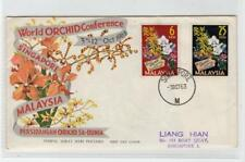 MALAYSIA: 1963 WORLD ORCHID CONFERENCE FIRST DAY COVER (C32344)