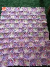 """New Barbie rag quilt with Flannel Fabric Cute for a Little Girl  #34"""" X 42"""""""