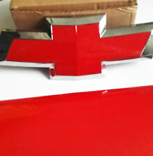 2 Silverado Gloss Red Universal Chevy Bowtie Vinyl Sheets Emblem Overlay