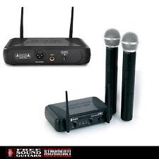 SKYTEC STWM 712 SET MICROFONI WIRELESS RADIOMICROFONO VHF 2CH PER DJ KARAOKE
