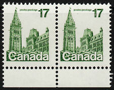 Canada 17c Parliament Pair, Scott 790a, VF MNH, catalogue - $100
