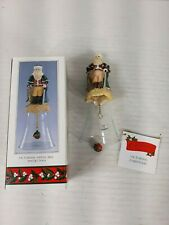 Santa Claus Bell Christmas Through the Ages Novelino 1992 Glass  Resin Victorian