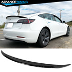 Fits 17-22 Tesla Model 3 Tail Wing Rear Trunk Spoiler ABS - Painted Gloss Black
