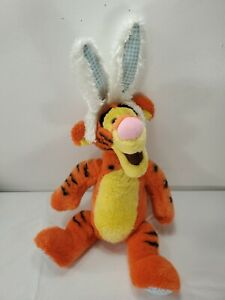 "19"" Disney Store Tigger Easter Plush Bunny Ears Stuffed Animal Bean Bag Toy"