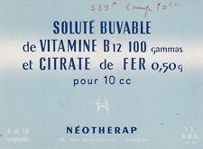 Z4 Buvard NEOTHERAP Soluté buvable de vitamine B 12 Médicament Pharmacie