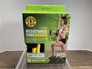 "Golds Gym Long Resistance Tube Medium Resistance Build Strength & Tone 50"" iFIT"