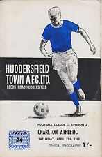 HUDDERSFIELD TOWN v CHARLTON ATHLETIC 68-69  LEAGUE MATCH