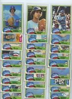 1981 TOPPS & TOPPS TRADED TEXAS RANGERS TEAM SETS (33) JENKINS, BELL HOUGH KERN