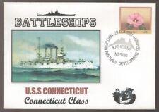 1981 US Battleships USS CONNECTICUT North Australia Development Postmark Cover
