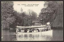 France Paris. Bois de Boulogne. La Passerelle. Bateau de Plaisance. Old Postcard