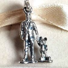 Disney Parks Pandora Sterling Silver Charm Walt & Mickey Partners Collectable