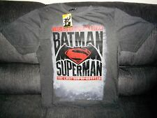 BATMAN V SUPERMAN DAWN OF JUSTICE MENS LARGE LICENSED TSHIRT RRP $54
