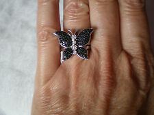 Black Spinel ring, 1.04 carats, size N/O, in 5.54 grams of 925 Sterling Silver