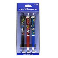 Mickey Minnie Mouse Donald Duck ballpoint pen Set of 3 face pattern Disney F/S