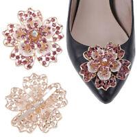 1Pc Rhinestone women crystal shoe clip decor girls shoes charm clip buckl_gu