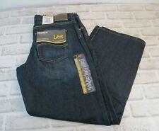 LEE Straight Fit Straight Leg Boys 16 Husky  Denim Blue Jeans Stretch  NWT